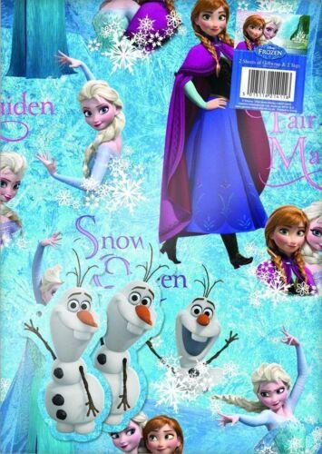 Blau Eiskönigin 2 Blätter von Geschenkverpackung Papier und 2 Anna Elsa Olaf