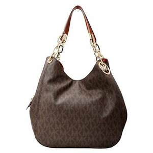 e10f255c43c0 Michael Kors Fulton Large Shoulder Tote Brown for sale online | eBay