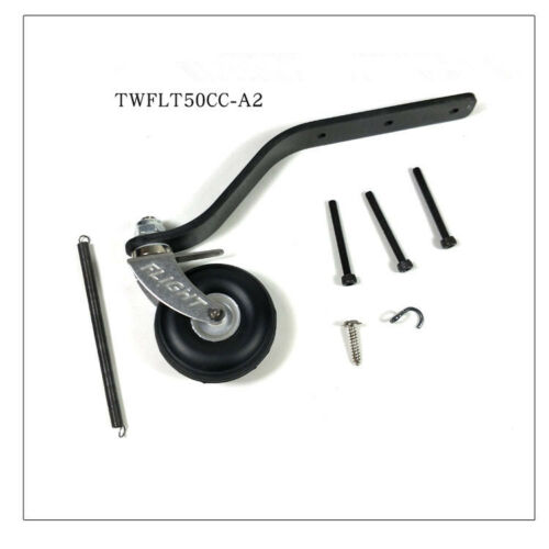 Updated-Carbon-Fiber-Tail-Wheel-Set-w-1-5-034-PU-Wheel-For-50-60CC-Gas-RC-Airplane