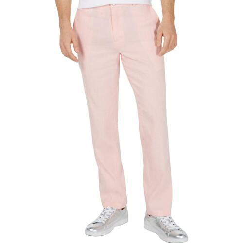 INC Mens Pink Linen Blend Slim Fit Office Dress Pants 32//32 BHFO 0240