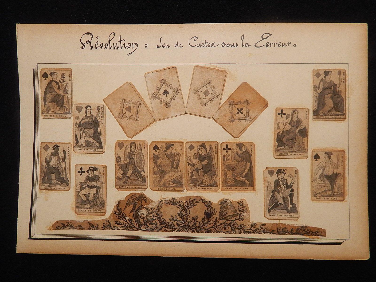JEU DE CARTES / Card game - REVOLUTIONAIRE / Revolutionary - SVB - XVIII - RARE