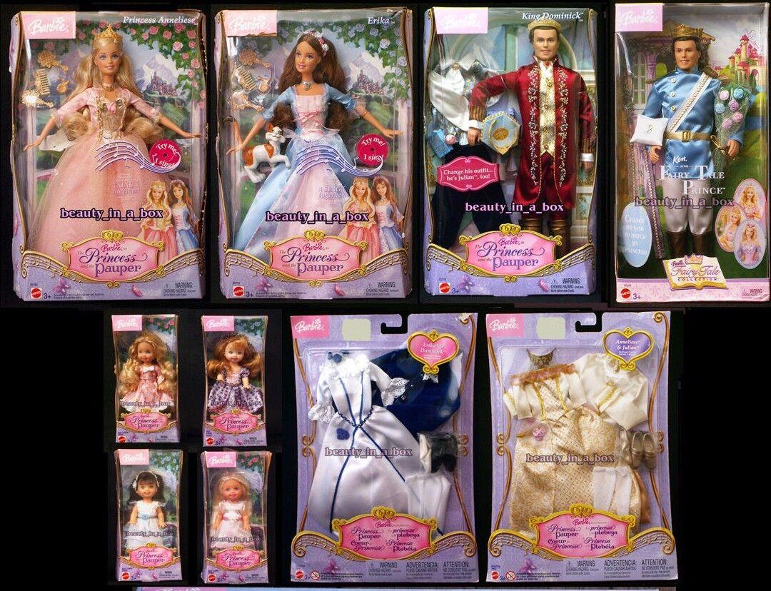 Muñeca Barbie Kritsaralam Erika kelly Princesa Y El Rey Pauper Boda Moda V