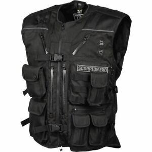 Scorpion EXO Covert Tactical Textile Vest - Black, All Sizes