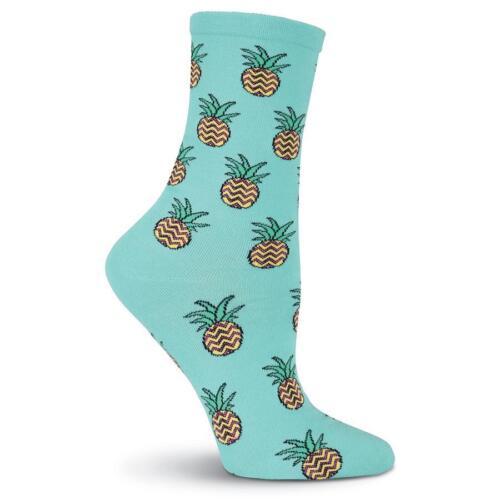 K Bell Womens Pineapples Crew Socks