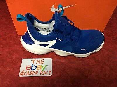Girl's Nike Free RN 5.0 GS Running Shoes Blue AR4143-401 Youth Size 5Y