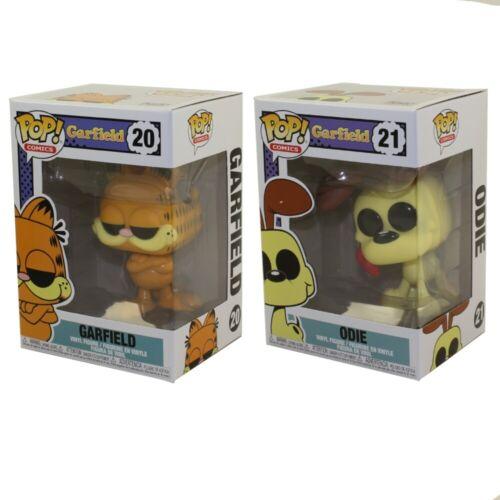 Garfield Vinyl Figures Funko POP SET OF 2 Garfield /& Odie Comics - New