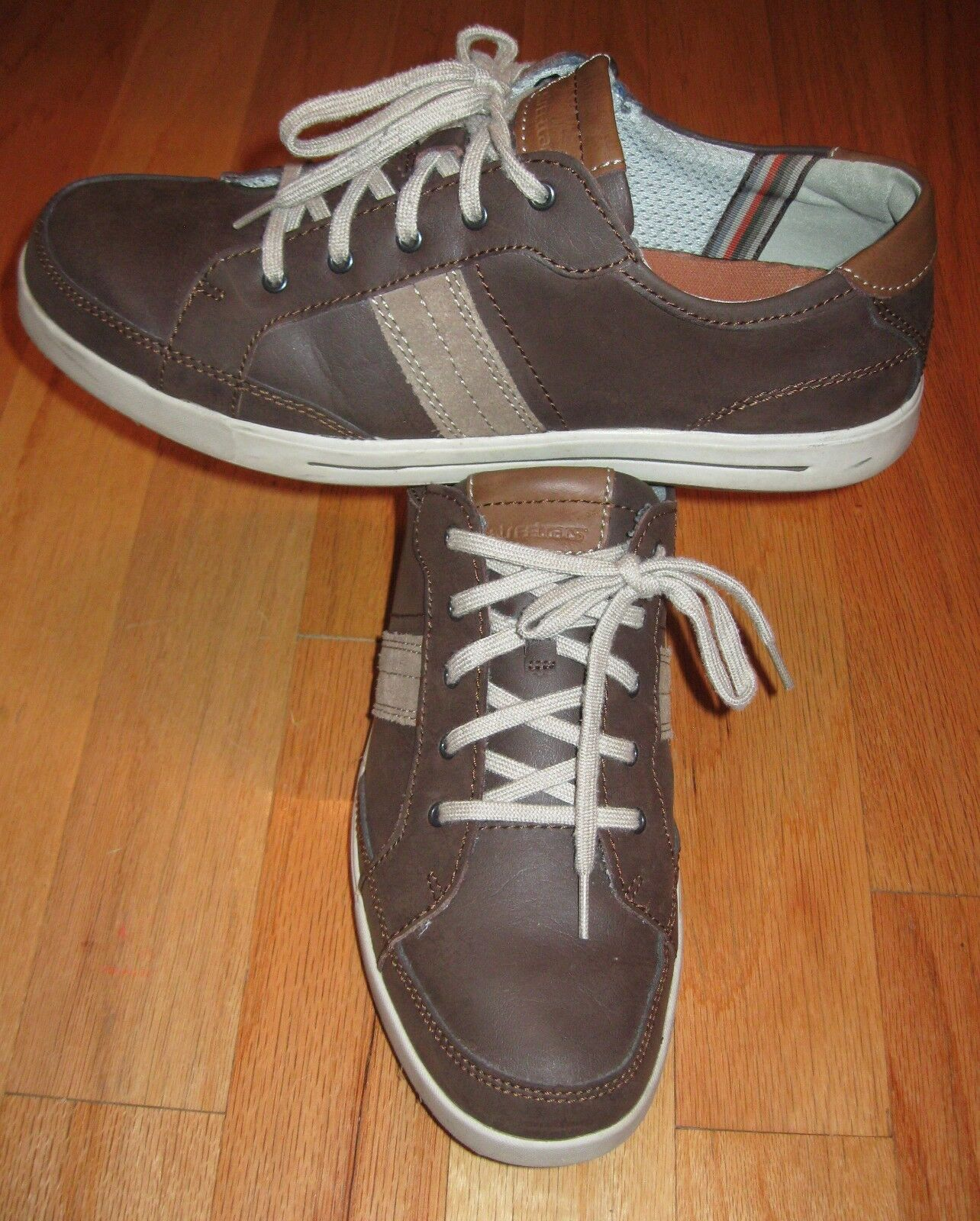 STREETCARS  CARMEL  MEMORY FOAM BROWN LEATHER MEN'S CASUAL OXFORDS SIZE 13