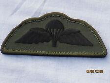 Para Schwinge,Qualified Parachutist,Fallschirmjäger,schwarz auf oliv,Klett/Velcr