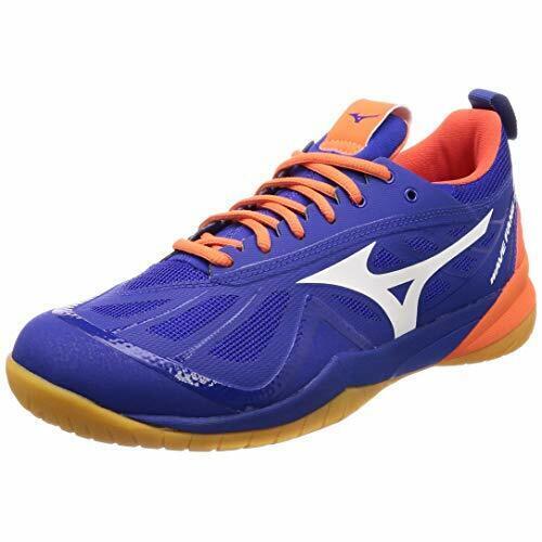 Mizuno Badminton Zapatos Onda Fang Cero Ancho 71GA1990 Azul Naranja US6.5 (24.5cm)