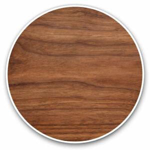 2-x-Vinyl-Stickers-7-5cm-Dark-Brown-Wood-Effect-Joiner-Cool-Gift-15765