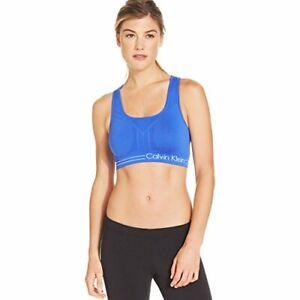 Calvin-Klein-Womens-Reversible-Racerback-Sports-Bra-Size-X-Small