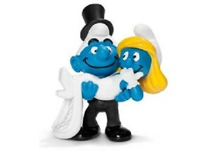 Bride-and-Groom-Smurf-Schleich-smurfs-toy-figure-NEW-figurine