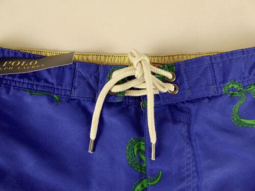 Polo Ralph Lauren Mens Kailua Octopus Swim Wear Cargo Trunks Shorts $75 Pony NWT