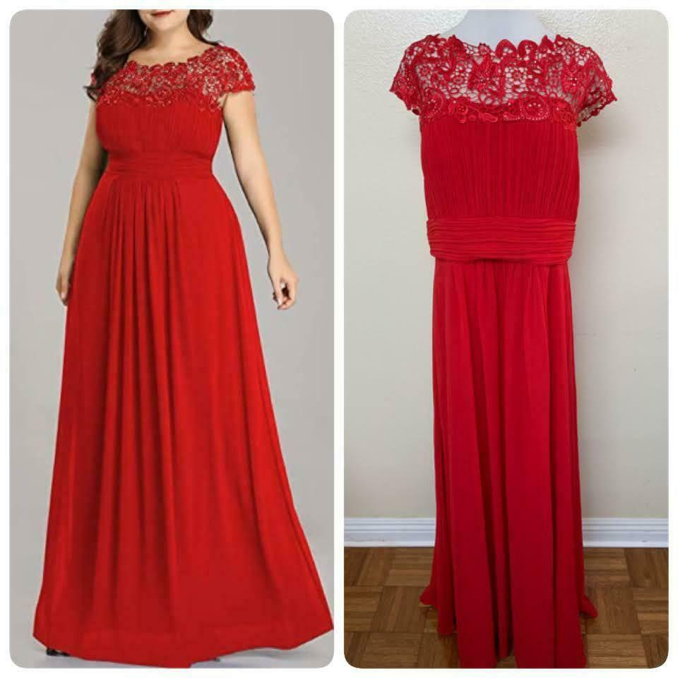 Ever Pretty Plus Sz Mother of the Groom Gown Embellished Sz 20 Red
