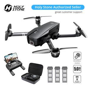 Holy Stone HS720 GPS Drone 2K HD Camera Foldable brushless 3 battery FPV + Case