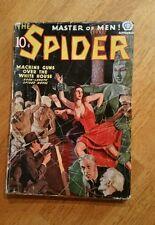 "THE  SPIDER -  9/37  ""Machine Guns Over The White House""  !!!"