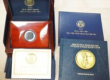 Lot of Five (5) 2009 Ultra High Relief Gold OGP Box w/ COA, Book  - No Coin
