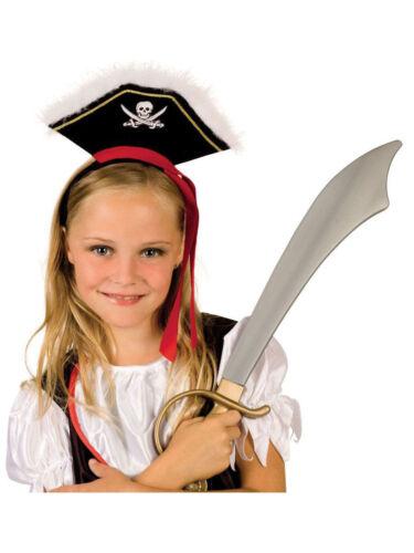 Faschingshut Kinder Kopfbügel Piratin Wendy Mädchen Minihut Karneval Fasching