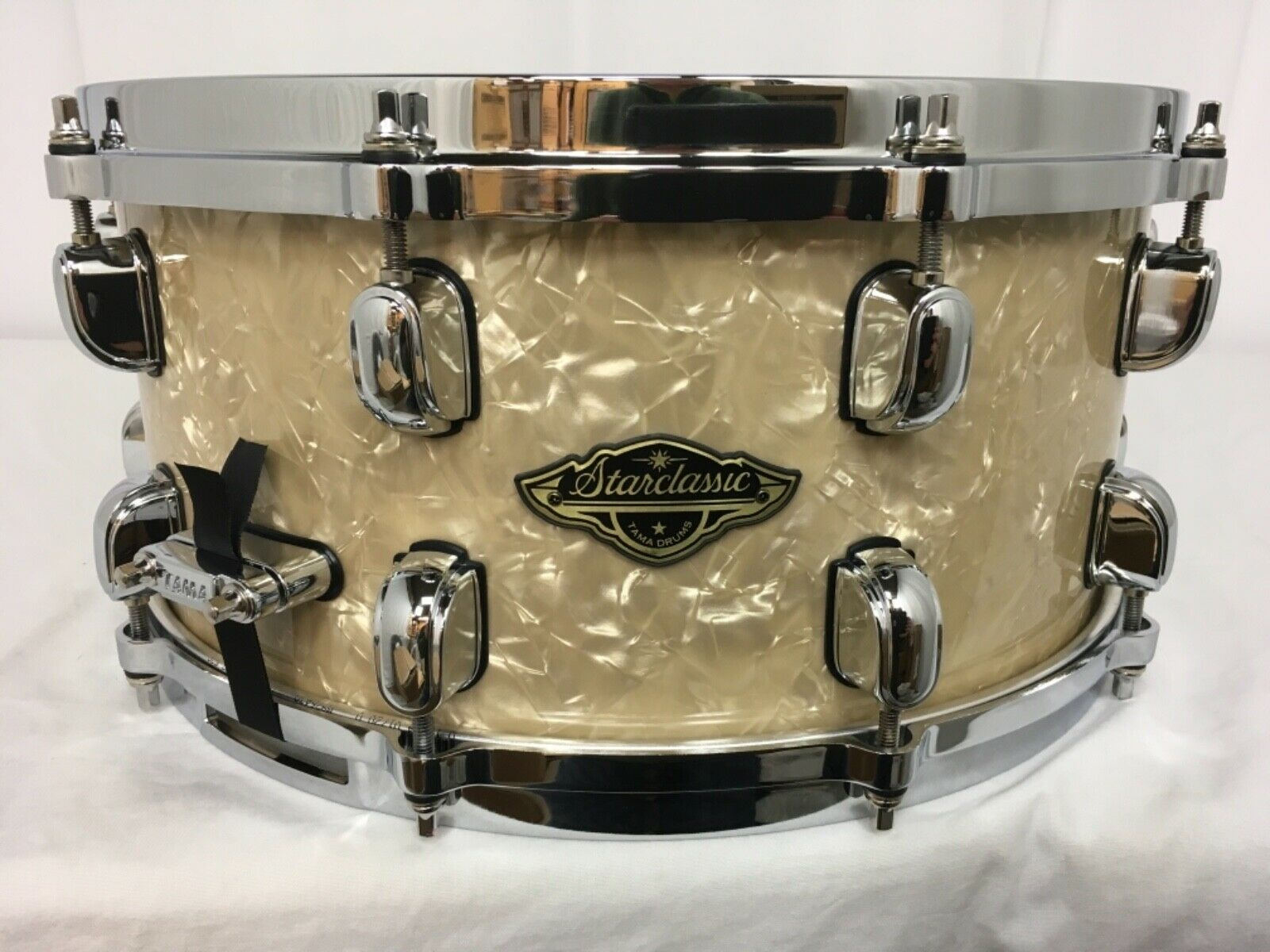 Tama Starclassic Walnut Birch 14  X 6.5  Deep Snare Drum Vintage Marine Pearl