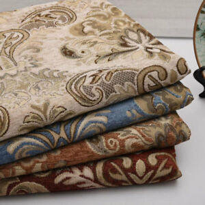 Thicken-Chenille-Pillow-Cushion-Case-Upholstery-Material-Jacquard-Sofa-Fabric