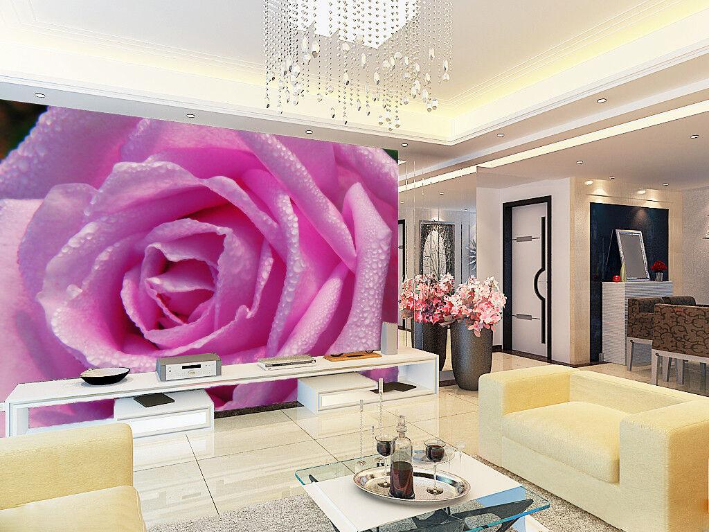 3D Rosa Blaumen Tau 7980 Tapete Wandgemälde Tapeten Bild Familie DE Lemon   Großer Räumungsverkauf    Um Sowohl Die Qualität Der Zähigkeit Und Härte   