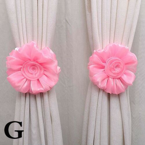 1//2pcs Flower Shaped Curtain Clip-on Tieback Buckle Clamp Hook Fastener Curtain