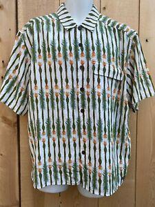 Vented EXOFFICIO SS SHIRT Large Tiki Design  Hiking camping pocket