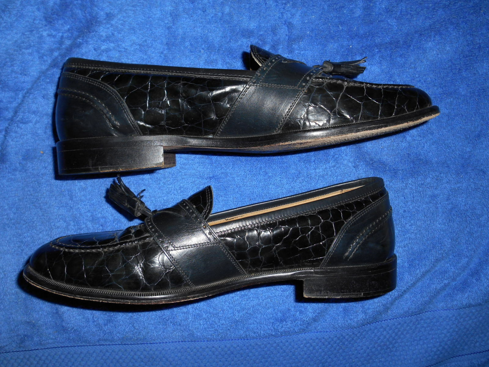 JOHNSTON SIZE & MURPHY ALLIGATOR CROC LOAFER SHOES SIZE JOHNSTON 9.5 M FROM ITALY.!! SUPERB.!! 182a68
