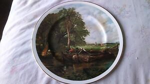 FENTON-CHINA-A-VIEW-ON-THE-STOUR-BY-JOHN-CONSTABLE-COLLECTORS-PLATE-27CM-DIA-VGC