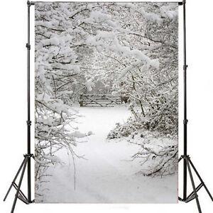 5X7FT-Winter-White-Snow-Tree-Photo-Background-Photography-Studio-Prop-Backdrop