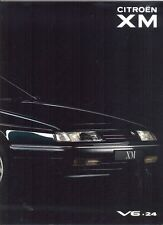 CITROEN XM V6.24 1990 French market PRESTIGE Sales Brochure