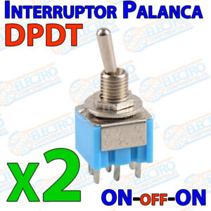 2x-Interruptor-Palanca-DPDT-ON-OFF-ON-6A-3-posiciones-toggle-switch-6-pines