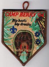 Boy Scout Patch, Camp Berry 2004, Black Swamp Area Council Ohio, MINT!