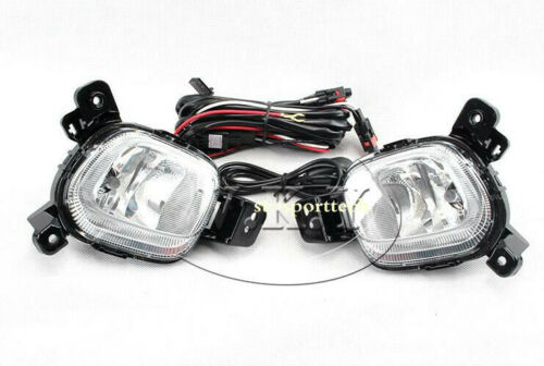 FOR KIA PICANTO 2017 2018 2019 Car Bumper Fog Lamp Kit w//Bulb Switch Cable Bezel