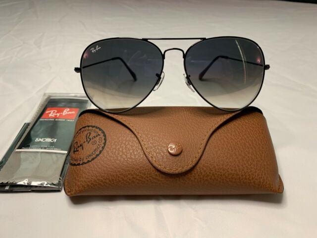 ray ban aviator sunglasses silver frame black lens