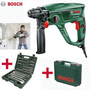 bosch bohrhammer pbh 2100 re set hammer mei elhammer inkl sds bohrer mei el ebay. Black Bedroom Furniture Sets. Home Design Ideas