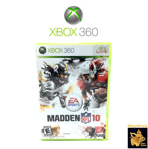 Madden-NFL-10-2009-EA-Sports-Xbox-360-Game-Disc-Case-Manual-Tested-Works-A