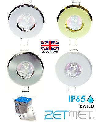buy popular dc8a6 e8250 4 x IP65 Outdoor Soffit / Bathroom Shower GU10 LED Downlights Spotlights  Lights   eBay