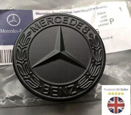Nouveau Mercedes Benz sport noir bonnet badge 57 mm neuf C E S CLK AMG CLASSE