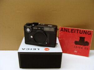 Leitz-Wetzlar-Leica-CL-Gehaeuse-Body-schwarz-eloxiert-034-aus-Sammlung-034-TOP