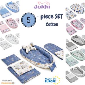 BABY-NEST-Pod-Newborn-Cocoon-Sleepyhead-lit-5-Pcs-Set-Coton-Couverture-Oreiller-EU