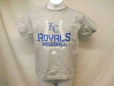 Fanartikel Neu Kansas City Royals Adidas Kinder M 5/6 Grey Shirt Mit Etikett
