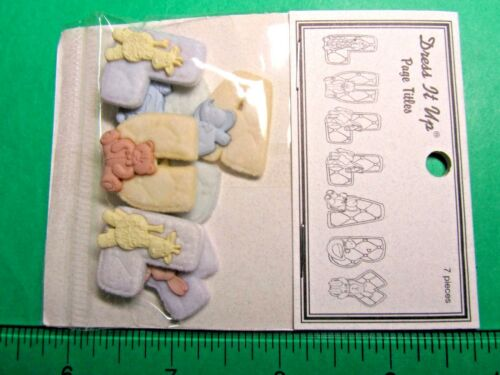 JESSE JAMES DRESS IT UP PAGE TITLES LULLABY CRAFT EMBELLISHMENTS 17