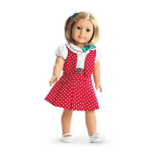 """American Girl KIT/'S REPORTER DRESS BEFOREVER for 18/"""" Dolls Red Kit NEW"""
