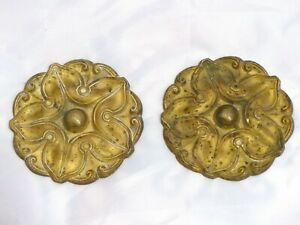 3 ANCIENNES PORTE EMBRASSES//EMBRASES DE RIDEAUX EN BRONZE
