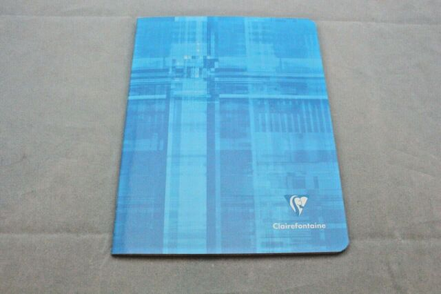 """Clairefontaine Staplebound Notebook 6 1//2/"""" X 8 1//4/"""" French Ruled Light Blue for sale online"""
