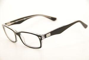 256d0b372c3 New Authentic Ray Ban RB 5206 2034 Black Transparent 52mm Eyeglasses ...