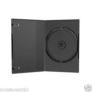 10-CUSTODIA-7MM-SLIM-NERA-CD-R-R-CD-DVD-SINGOLA-PER-VERBATIM-TDK-SONY-BOX13-M