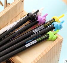 New 6PCS Korea Lovely Cartoon Cats RollerBall Pen/Gel Pen-0.5mm Black Ink ZXB14A