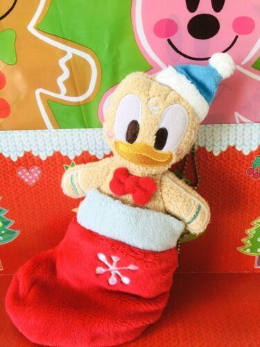 Tokyo Disney Resort Donald Duck Christmas badge chain Plush Gingerbread 2013